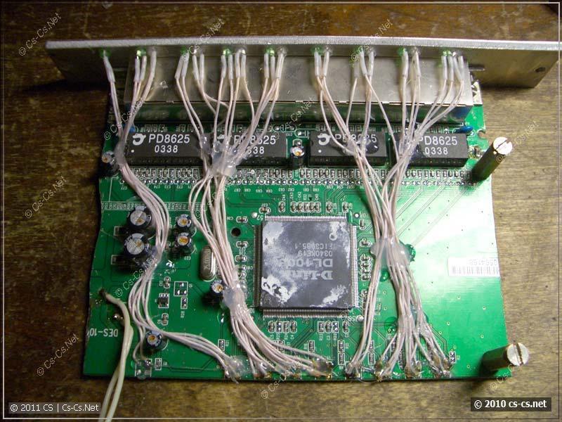 Светодиоды с другой стороны платы перенесены на лицевую