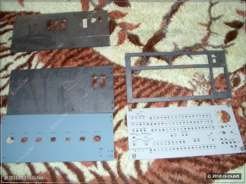 Передние и задние панели, выполненные лазерной резкой