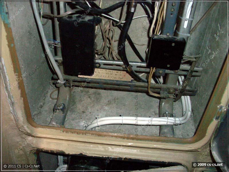 Подводка кабелей к силовому щитку