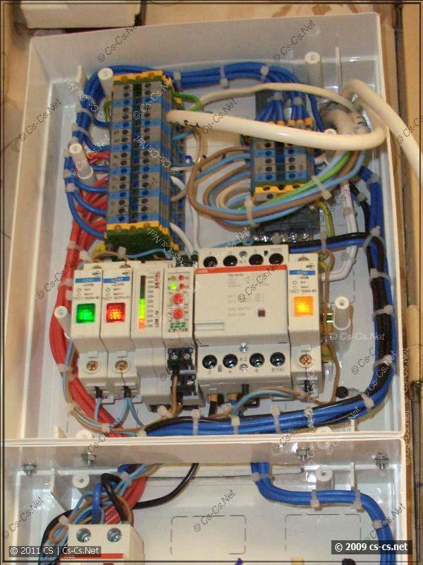 Схема контроля напряжения скоммутирована и подключена