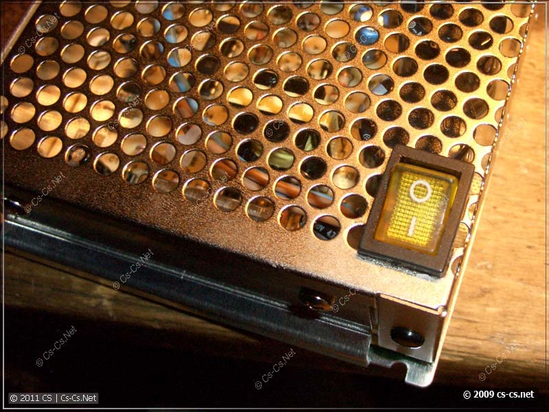 Пропатченный блок питания с выключателем сети