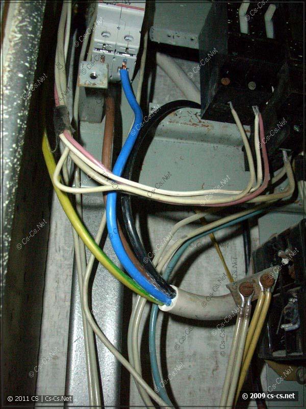 Подключение вводного кабеля