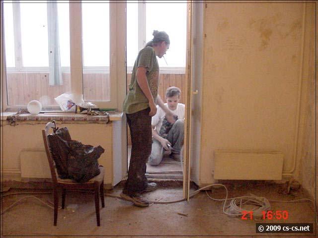 Рабочие моменты у балкона