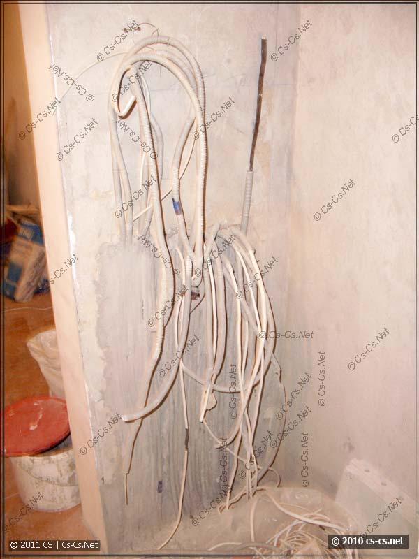 Это - заготовка кабелей для будущего электрощитка
