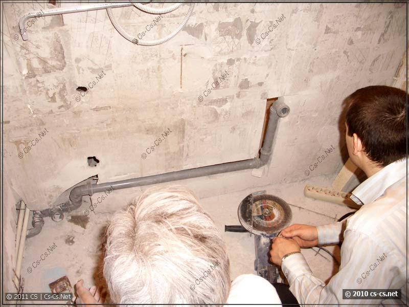 Заготовка канализации для раковины