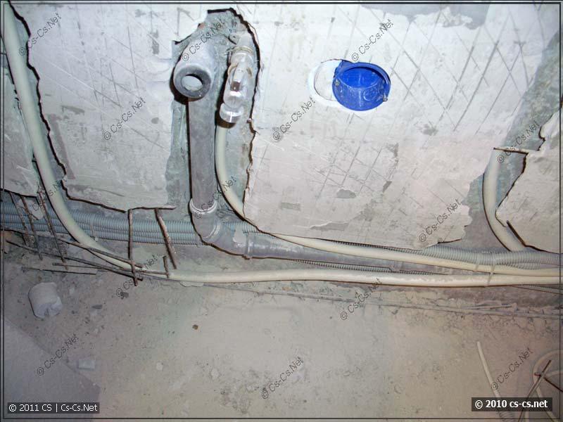 Выводы воды и канализации для стиральной машинки