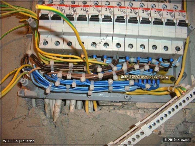Все потребители подключены и их провода уложены