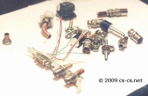 Разные разъёмы, клапаны, трубки и планка в системный блок