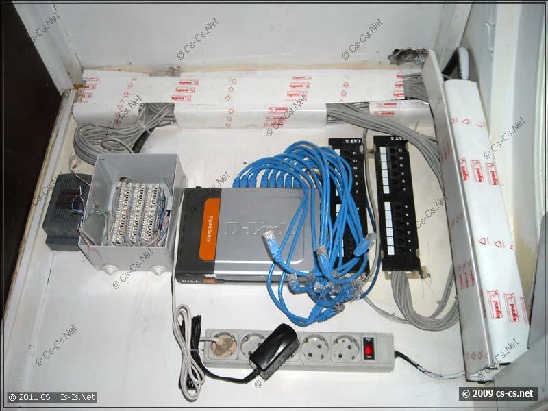 Старая сеть и телефонный бокс МГТС
