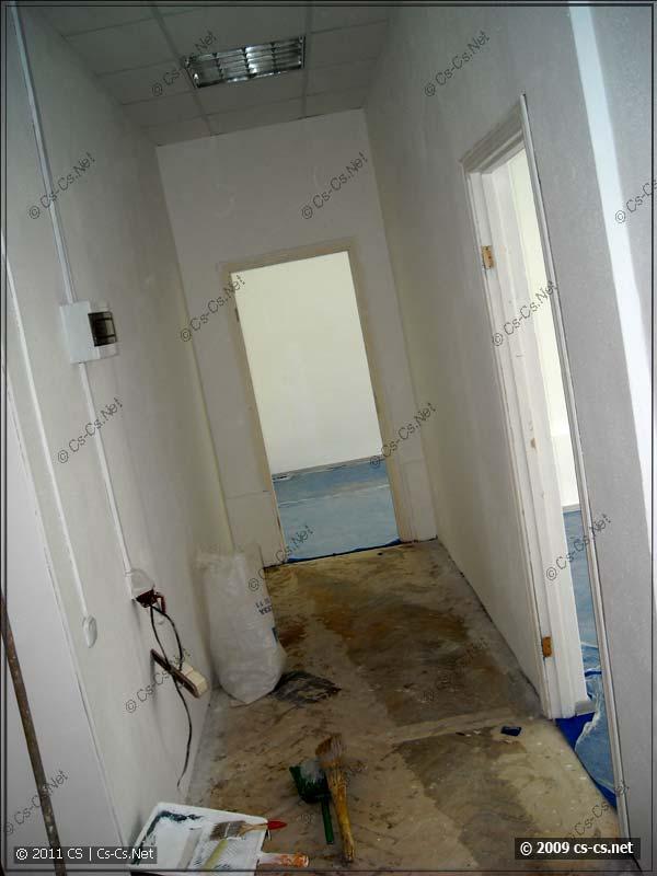 Офис, подготовленный к ремонту