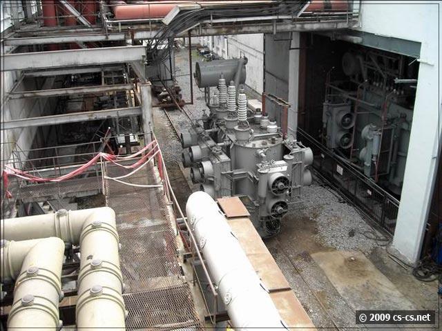 Выкаченный в ремонт трансформатор 10/110 кВ