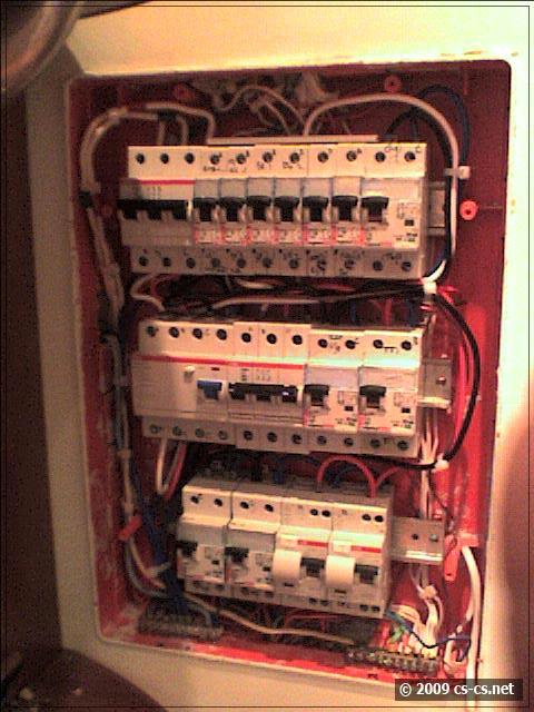 Квартирный щиток после переборки монтажа и замены автоматов и УЗО