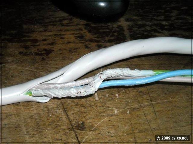 Разделанный кабель