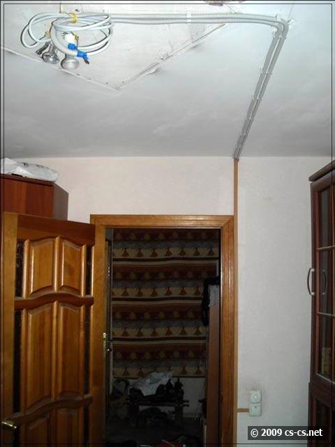 Вид коробов в комнате