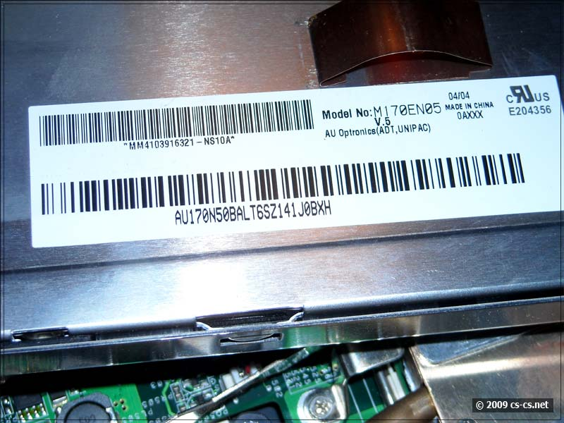 Маркировка LCD-матрицы