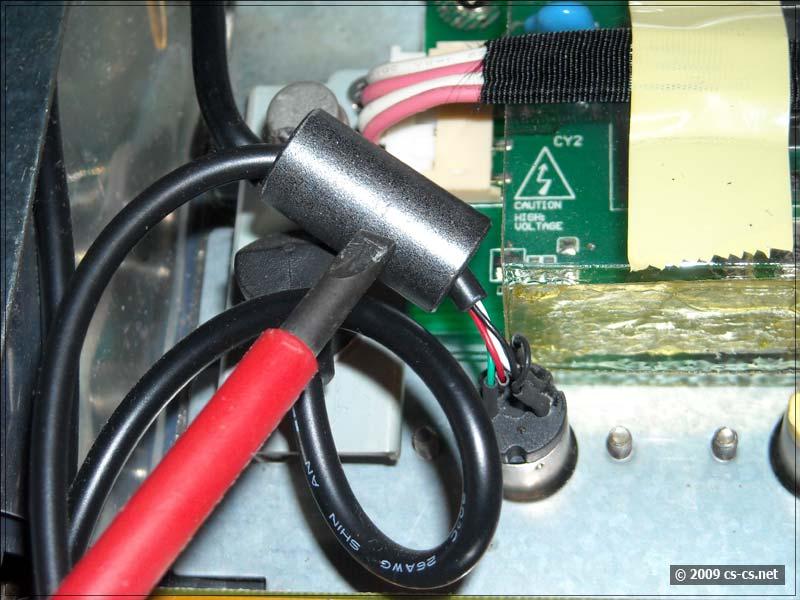 Дроссели на кабелях не закреплены