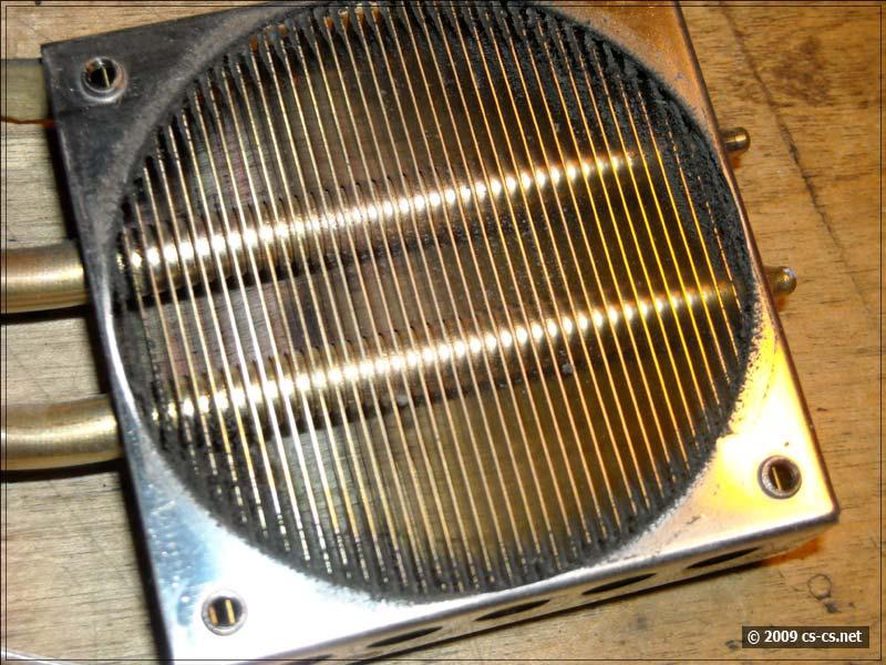 Запылённый радиатор