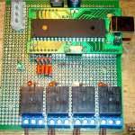 Внешний вид итогового монтажа реле и USB-модуля