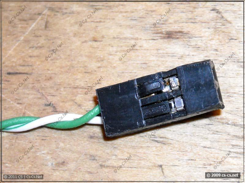 Фишка типа BLS-2 на другом конце кабеля