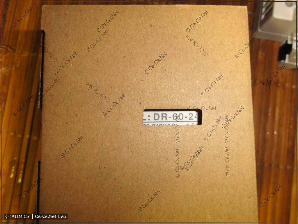 Упаковка блоков питания Mean Well, на которой всегда видно модель