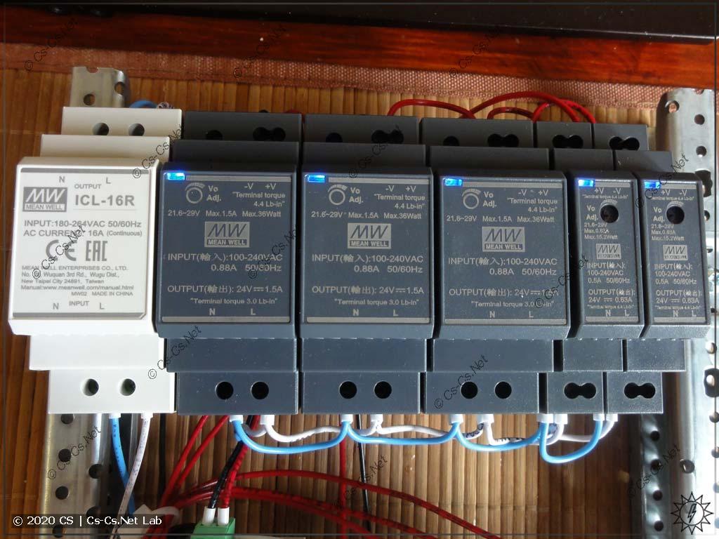 Блоки питания Mean Well HDR (модели на 30 и 15 Вт вместе с реле ICL-16R)
