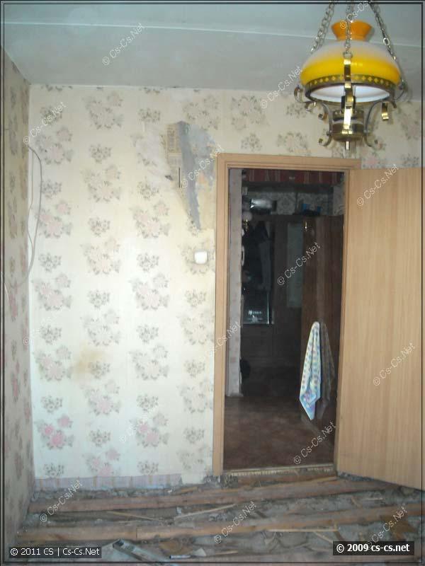 Комната в предремонтном состоянии