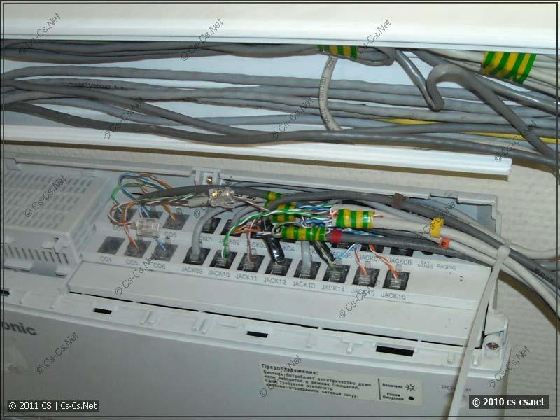 Относительно красивое подключение кабелей к АТС
