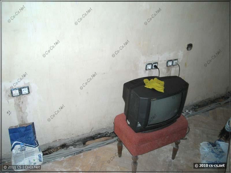 Проверка розеток при помощи телевизора