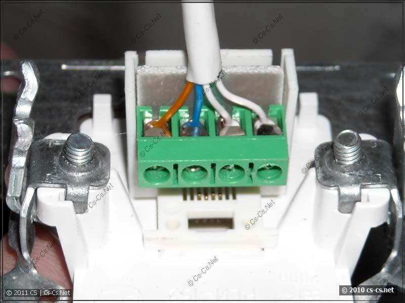 Подключение телефонной розетки (RJ-11 6p4c)