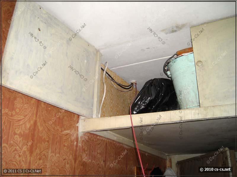 Металлорукав ввода кабелей с этажного щитка в квартиру