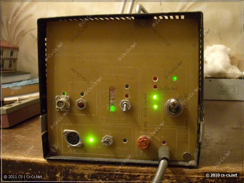 Задняя панель управления и индикации