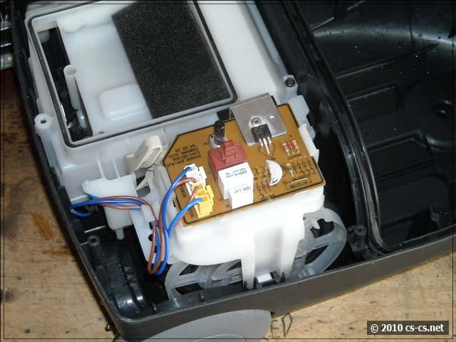 Установлены крышка двигателя и плата управления