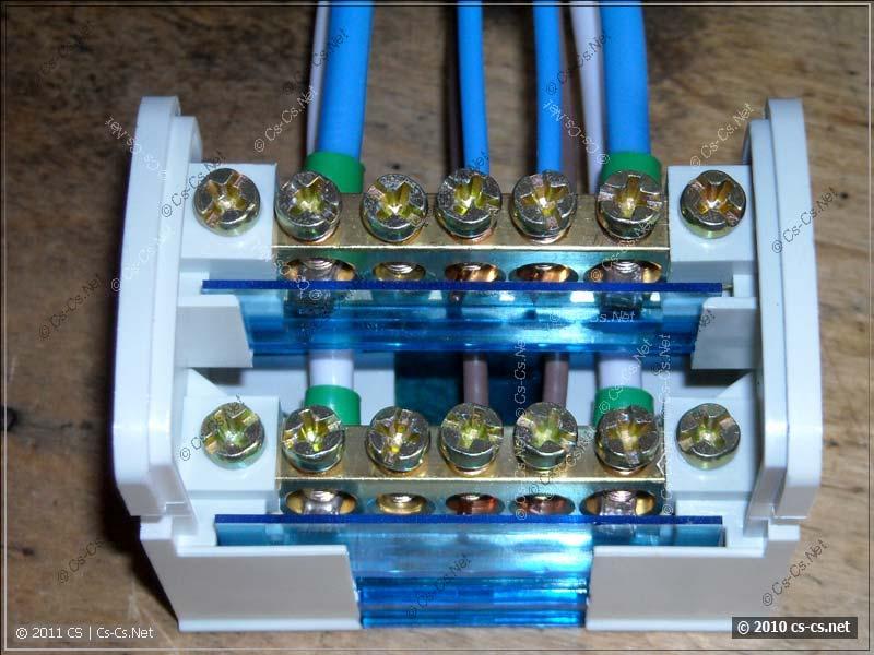 Ограничители длин концов провода и изоляторы кросс-модуля