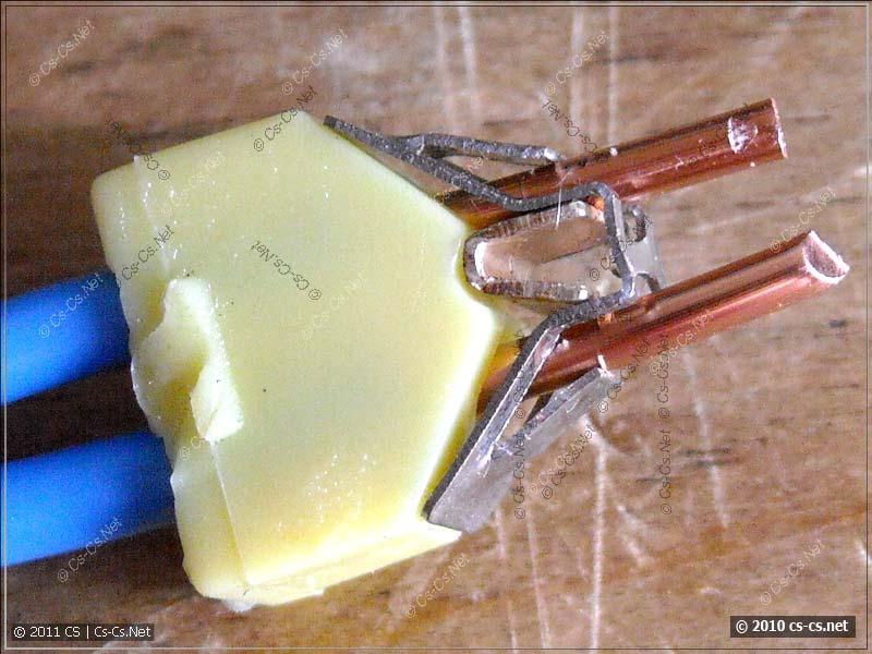 Внутренности клеммника WAGO 773 без пасты