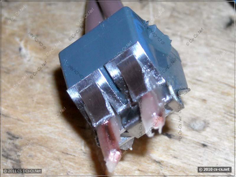 Внутренности клеммника WAGO 773 с пастой