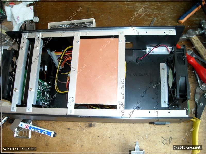 Тестируем компоновку шасси для крепления жёстких дисков