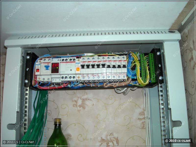 Силовой модуль установлен в шкаф; электрика запущена
