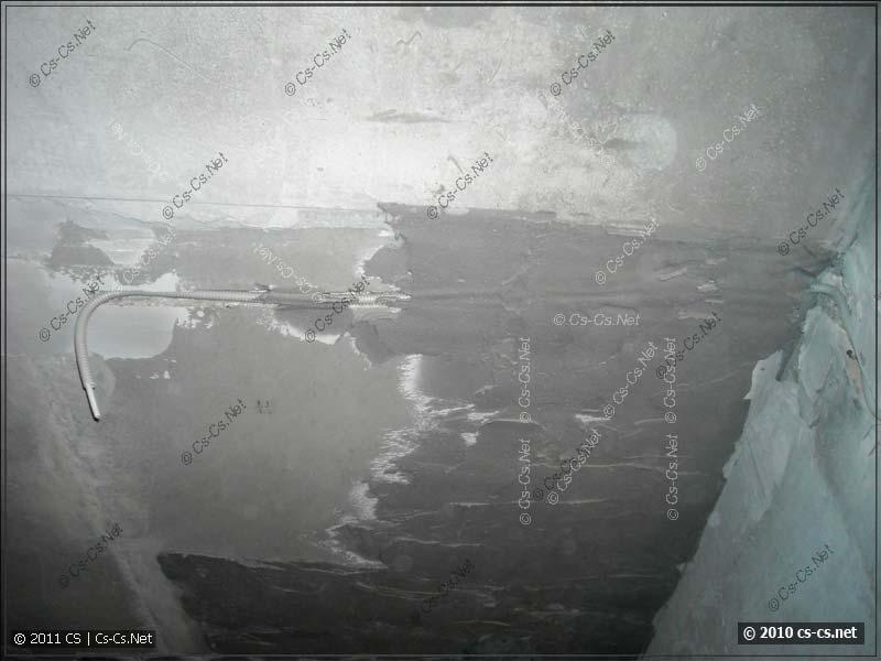 Укладка кабеля освещения в потолок под штукатурку