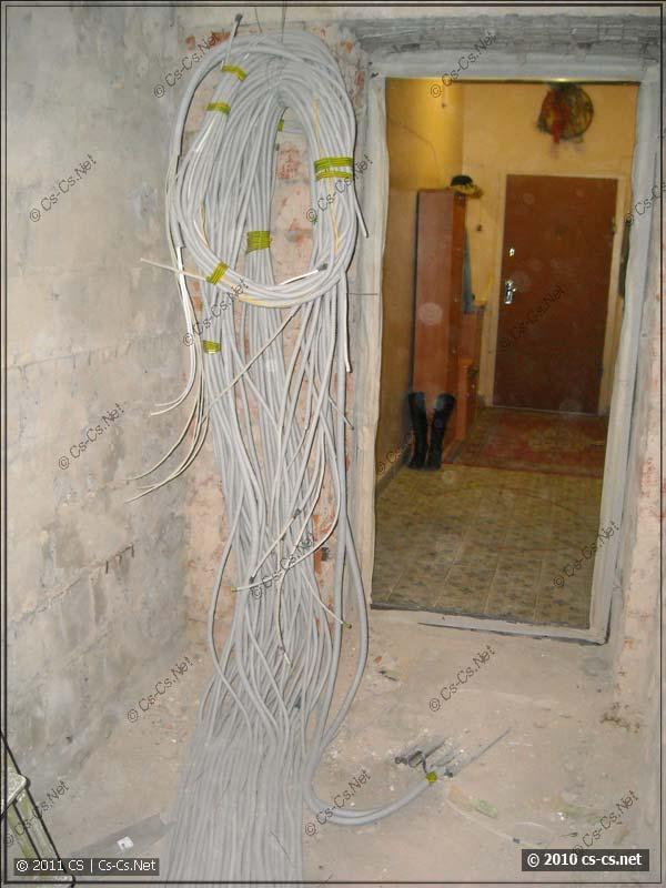 Запас кабелей на монтаж и подключение щитка