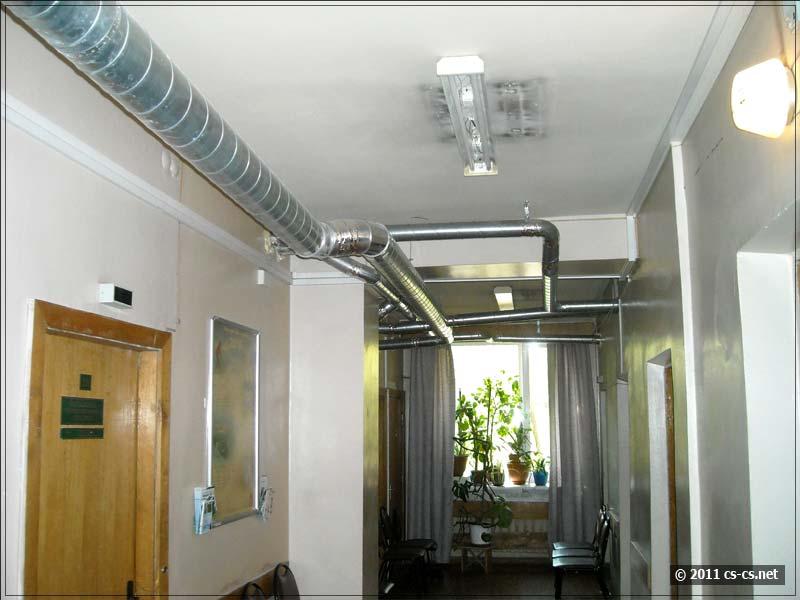 Вот так выглядят этажные воздуховоды