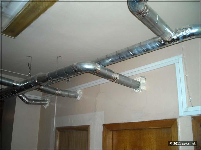 Опять же этажные воздуховоды