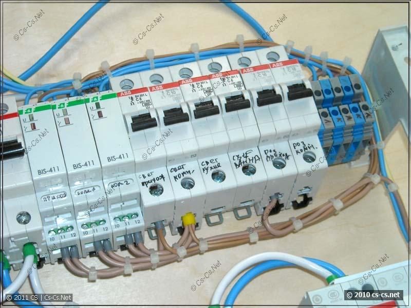 Автоматы розеточных линий и импульсные реле BIS-411