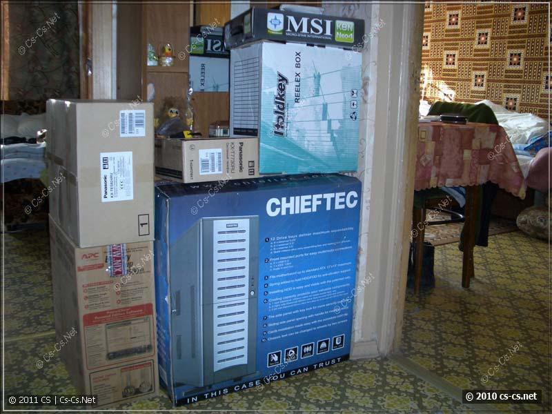Комплектующие для сборки сервера и телефонии на фабрике