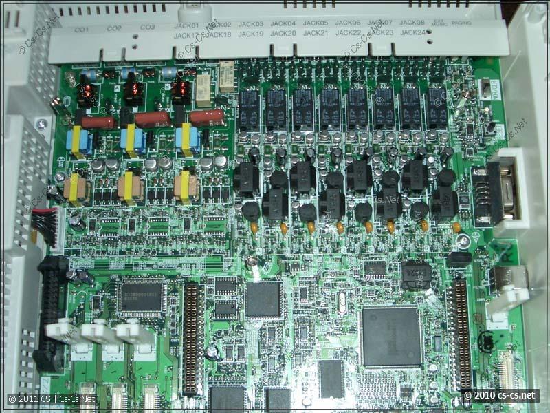 Внутренности АТС Panasoinc TES-824