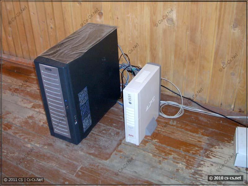 Сервер всё это время просто стоял в подсобке
