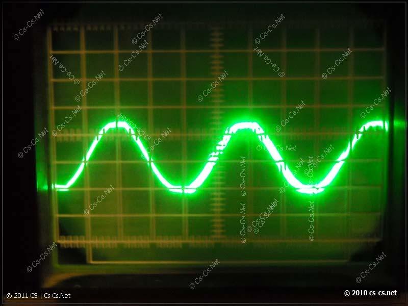 Осциллограмма входного напряжения 220 В, 50 Гц