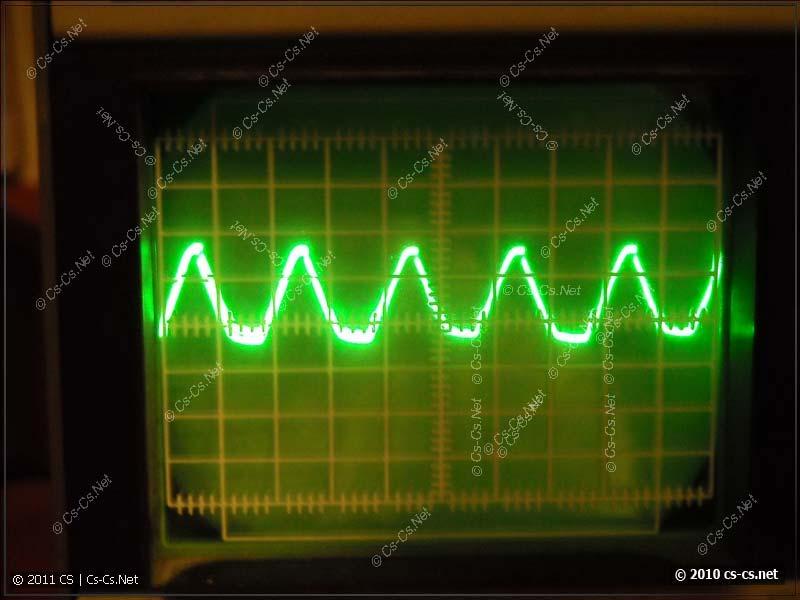 Осцилограмма выходного сигнала перехода через ноль