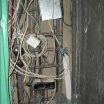 Этажная телефонная коробка КРТ-10 в щитке