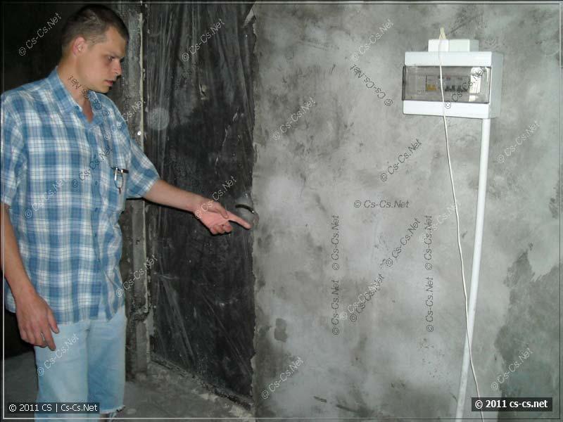 Временный щиток (от строителей) в квартире и вводные кабели