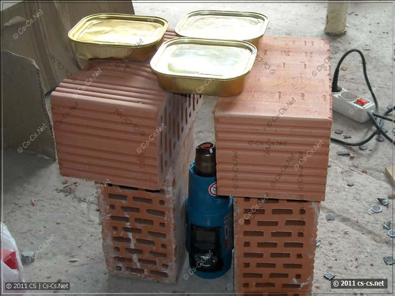 Разогреваем обед при помощи строительного фена